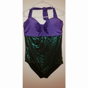 Other - Mermaid One Piece Padded Underwire Swimsuit EUC